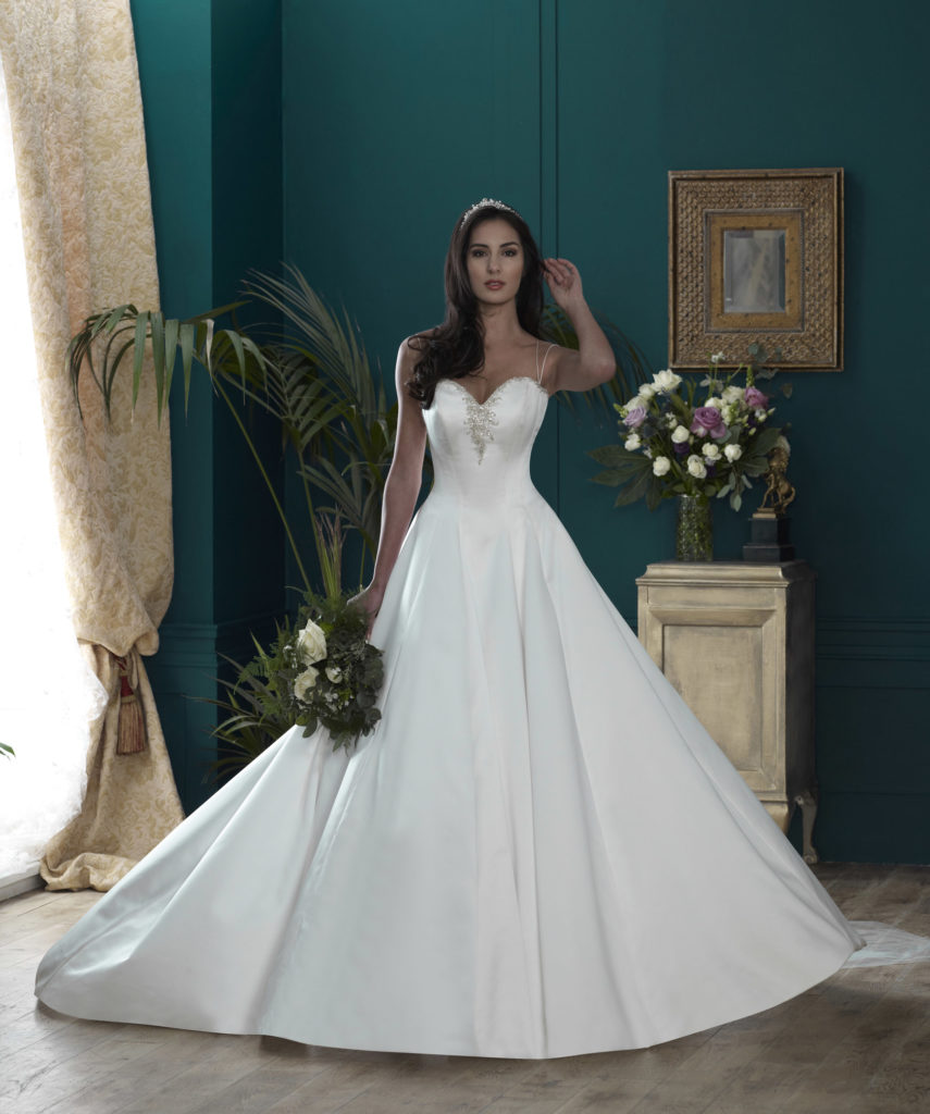Wedding Dresses Colchester. Buckingham by Nicola Anne. Available from Fairytale Bride 17 Market Hill Coggeshall Colchester Essex CO61TS 01376 743121