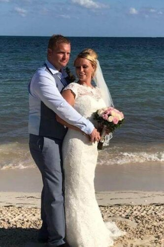 Carrie wearing Devoted by Nicola Anne from Fairytale Bride 01376 743121 (4)